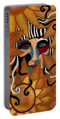 Van Gogh Meets Picasso Portable Battery Charger by Barbara St Jean