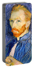 Portable Battery Charger featuring the photograph Van Gogh On Van Gogh by Cora Wandel