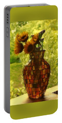 Portable Battery Charger featuring the photograph New Orleans Van Gogh Vase Revisited by Michael Hoard