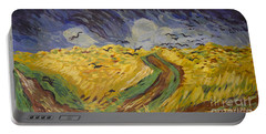 Van Gogh Wheat Field With Crows Copy Portable Battery Charger