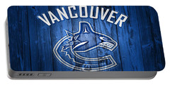 Vancouver Canucks Barn Door Portable Battery Charger