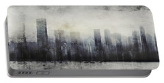 Vancouver Skyline Abstract 1 Portable Battery Charger by Peter v Quenter