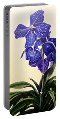 Vanda Sausai Blue Orchid Portable Battery Charger
