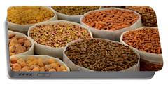 Variety Of Raw Nuts For Sale At Outdoor Street Market Karachi Pakistan Portable Battery Charger