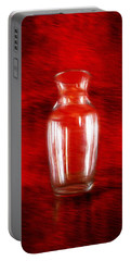Portable Battery Charger featuring the photograph Vase En Rouge by Aaron Berg
