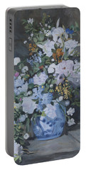 Vase Of Flowers - Reproduction Portable Battery Charger