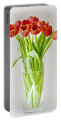Vase Of Tulips Portable Battery Charger