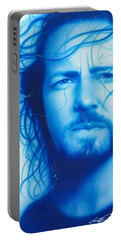 Eddie Vedder - ' Vedder ' Portable Battery Charger by Christian Chapman Art