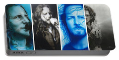 Eddie Vedder - ' Vedder Mosaic I ' Portable Battery Charger by Christian Chapman Art
