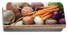 Veg Box Portable Battery Charger by Anne Gilbert