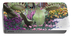 Vegas Butterfly Garden Flowers Cactus Romanti Interior Decorations Portable Battery Charger by Navin Joshi