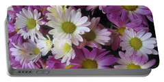 Vegas Butterfly Garden Flowers Colorful Romantic Interior Decorations Portable Battery Charger by Navin Joshi