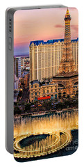 Vegas Water Show Portable Battery Charger by Tammy Espino