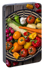 Vegetable Basket    Portable Battery Charger by Garry Gay