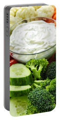 Vegetables And Dip Portable Battery Charger