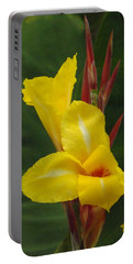Velvety Yellow Iris  Portable Battery Charger