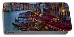 Venetian Grand Canal At Dusk Portable Battery Charger by David Smith