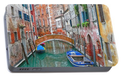 Portable Battery Charger featuring the photograph Venetian Idyll by Hanny Heim