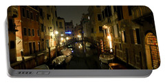 Portable Battery Charger featuring the photograph Venice At Night by Silvia Bruno