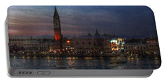 Venice By Night Portable Battery Charger by Hanny Heim