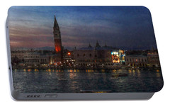 Portable Battery Charger featuring the photograph Venice By Night by Hanny Heim
