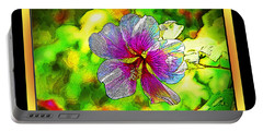 Venice Flower - Framed Portable Battery Charger