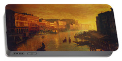 Venice From The Rialto Bridge Portable Battery Charger