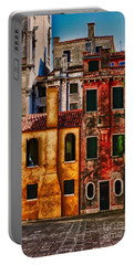 Portable Battery Charger featuring the photograph Venice Homes by Jerry Fornarotto