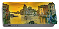 Portable Battery Charger featuring the photograph Golden Venice 3 Hdr - Italy by Maciek Froncisz