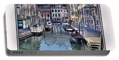 Portable Battery Charger featuring the photograph Venice Iv W/ Digital Mat by Tom Prendergast