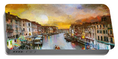 Sunrise In The Beautiful Charming Venice Portable Battery Charger by Georgi Dimitrov