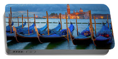 Venice View To San Giorgio Maggiore Portable Battery Charger by Heiko Koehrer-Wagner