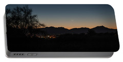 Portable Battery Charger featuring the photograph Venus And A Young Moon Over Tucson by Dan McManus