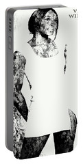 Venus Williams Paint Splatter 2c Portable Battery Charger by Brian Reaves