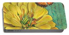 Verdigris Floral 2 Portable Battery Charger by Debbie DeWitt