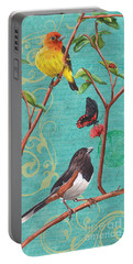 Verdigris Songbirds 2 Portable Battery Charger