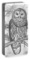 Vermont Barred Owl Portable Battery Charger
