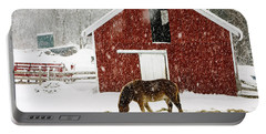 Vermont Christmas Eve Snowstorm Portable Battery Charger