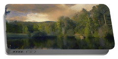 Vermont Morning Reflection Portable Battery Charger by Jeff Kolker