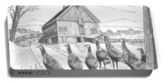 Vermont Wild Turkeys Portable Battery Charger