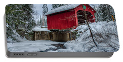 Vermonts Moseley Covered Bridge Portable Battery Charger by Jeff Folger