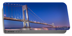 Verrazano Bridge Before Sunrise  Portable Battery Charger by Michael Ver Sprill