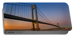 Verrazano Bridge Sunrise  Portable Battery Charger