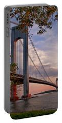 Verrazano Narrows Bridge Portable Battery Charger by Jean-Pierre Ducondi