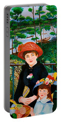 Version Of Renoir's Two Sisters On The Terrace Portable Battery Charger