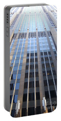Vertical Chicago By Jammer Portable Battery Charger by First Star Art