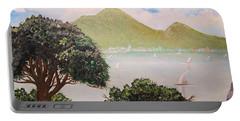 Vesuvius And Umbrella Pine Tree II Portable Battery Charger