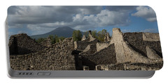 Vesuvius Towering Over The Pompeii Ruins Portable Battery Charger
