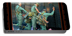 Veterans At Vietnam Wall Portable Battery Charger by Carolyn Marshall