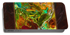 Vibrant Fall Colors An Abstract Painting Portable Battery Charger